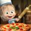 Masha e o Urso Pizzaria! Jogos de Cozinhar Pizza!